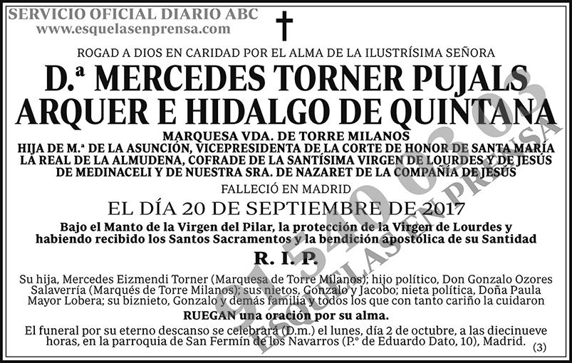 Mercedes Torner Pujals Arquer e Hidalgo de Quintana